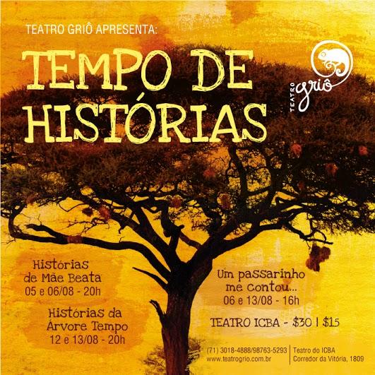cartaz web histórias da árvore tempo
